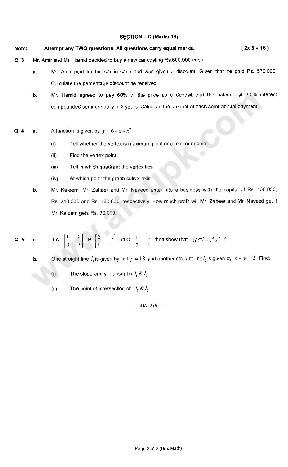 intermediate 1 maths past papers answers For students looking for a 'good' pass at national 5 maths in 2019 you may  2 100 n5 exam type questions & answers 3  1 n5 maths past/practice papers.